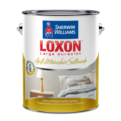 LOXON INTERIOR SATINADO ANTIMANCHA BLANCO   4 LITROS